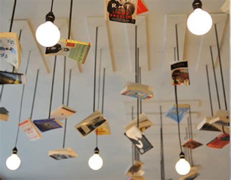 Interior Design With Recycled Materials by Bookstore Cafe Design Is Accented With Books Green