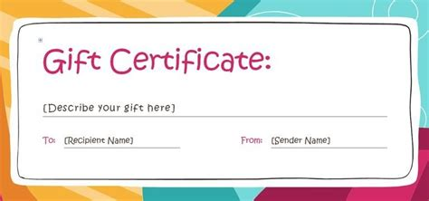 customizable gift certificate template free customizable gift certificate template