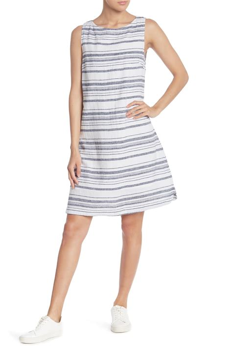 beachlunchlounge linen blend crew neck tank dress nordstrom rack