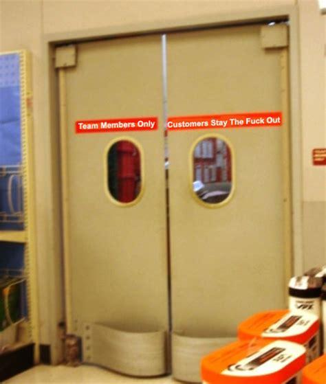 Backroom Door retail hell underground backroom doorbusting customers