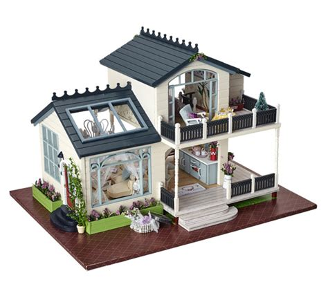home design kit with furniture provence villa large diy wood doll house 3d miniature