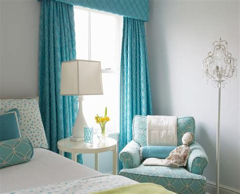 turquoise bedroom curtains turquoise girls bedroom with turquoise cornice box and