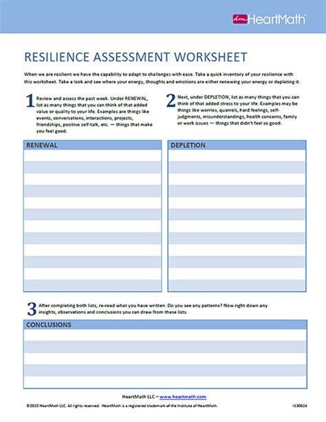 printable resiliency quiz resilience worksheets switchconf