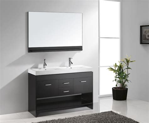 double sink 48 inch bathroom vanity virtu 48 inch gloria bathroom vanity espresso