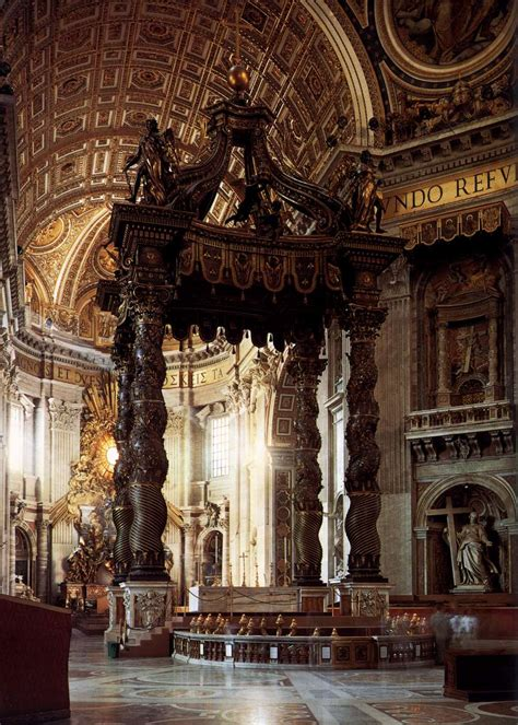 bernini baldacchino bernini and borromini s quot arms quot alberti s window