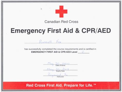 4 Best Images Of Free Printable First Aid Certificate First Aid Certificate Template Cpr And Free Cpr Card Template