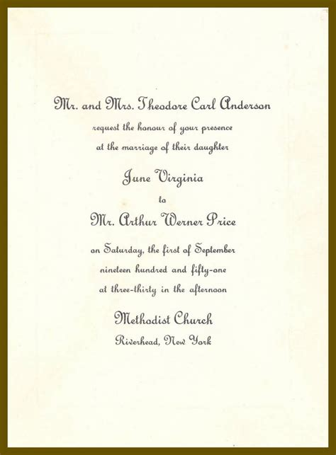 wedding invitations letter to june and the wedding invitation