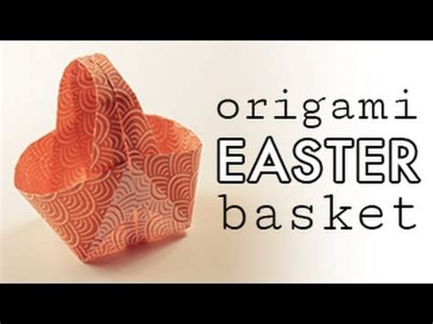 Easter Origami Basket - origami easter basket tutorial