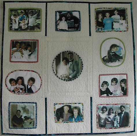 Family Picture Quilt by Memory Quilts Vavrik Family Quilt