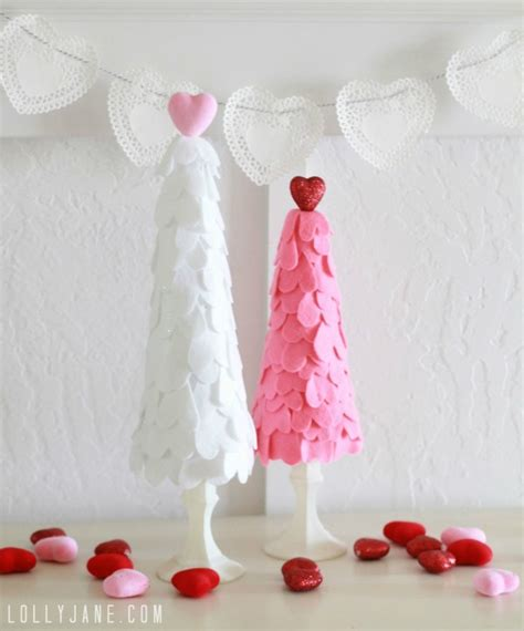 valentine s day decorations ideas 2016 to decorate bedroom felt heart valentine trees