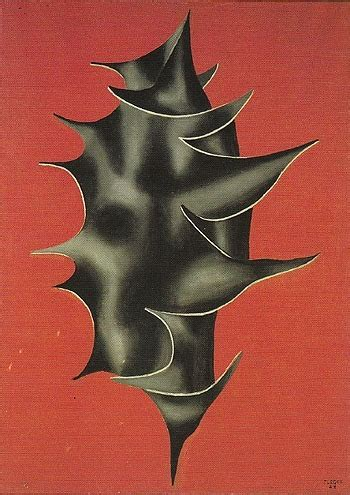 gjennyg fernand legerholly leaf  red background