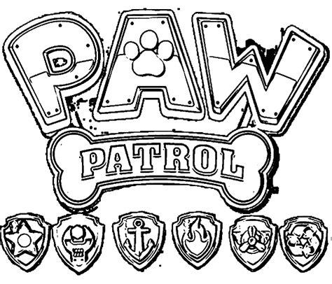 paw patrol logo coloring pages paw patrol coloring pages coloring page paw patrol