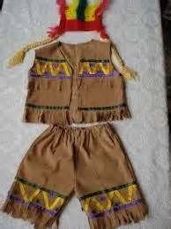 trajes de indio de material de desecho esquema disfraz de canita a disfrazarse los mas