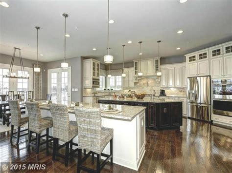 kitchen with 2 islands spacious kitchen with two islands kitchens kitchendesigns homechanneltv kitchen designs