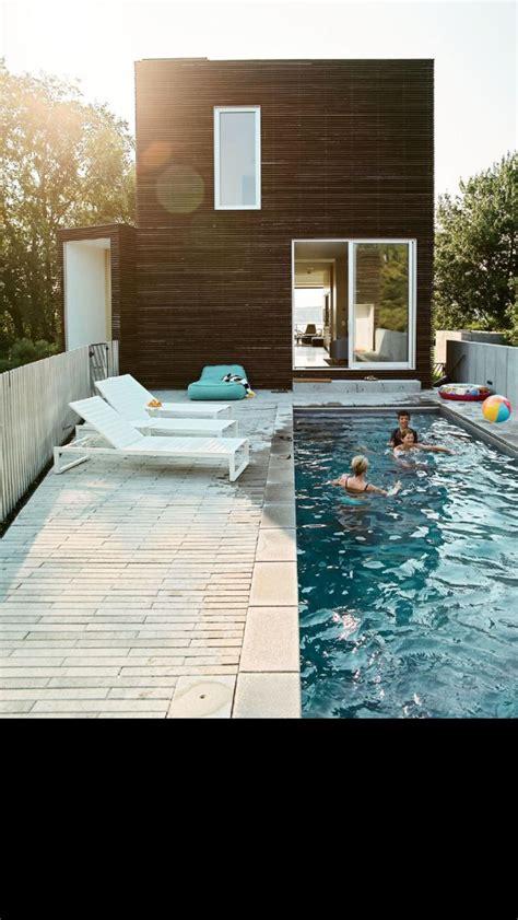 pool   narrow small backyard  england cottage