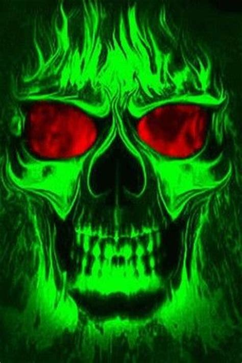 imagenes de calaveras verdes green skulls on fire skeletal fire calaveras verdes