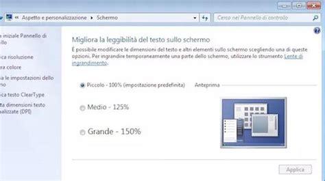 dimensioni pc come cambiare risoluzione dimensioni schermo pc windows