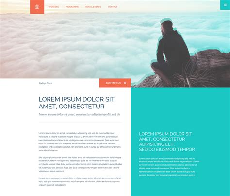Column Colorful Website Template Free Psd Psdexplorer Colorful Website Templates