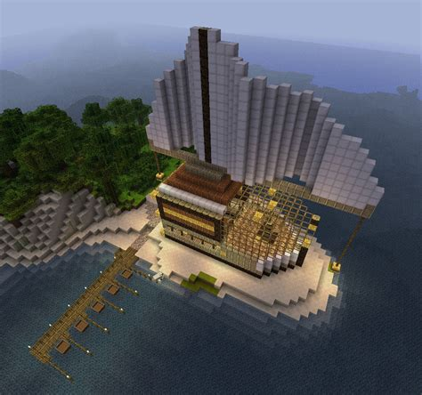 minecraft giant ship like building with a dock by - How To Build A Giant Boat In Minecraft