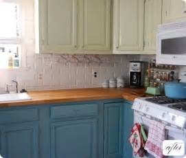 Kitchen Cabinets Two Colors Painting Kitchen Cabinets Two Different Colors Decor