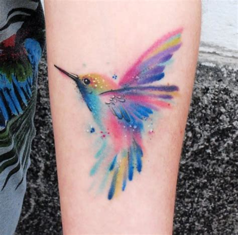 watercolor tattoo pain watercolor hummingbird ink