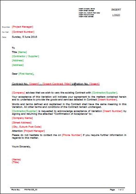 template variation approval letter allsafety
