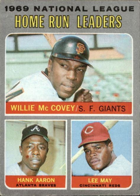 1970 topps 65 nl home run leaders willie mccovey hank