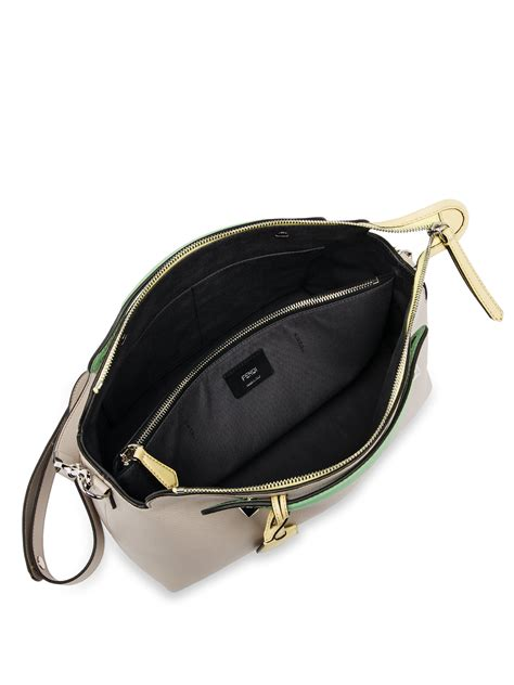 Fendi Btwby The Way Grey lyst fendi by the way large multicolor satchel in gray