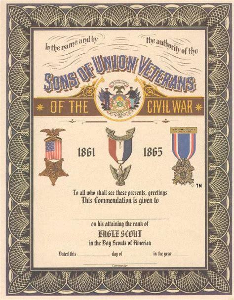 eagle scout certificate template certificates