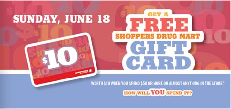 Optimum Gift Card Promotion - shoppers drug mart offers get 20x bonus optimum points saturday june 17 free 10