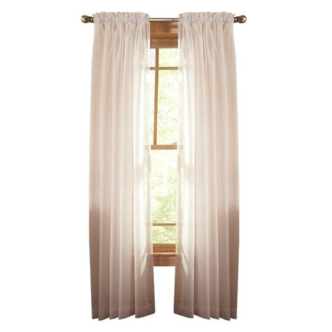 martha stewart window curtains martha stewart living heavy cream fine sheer rod pocket