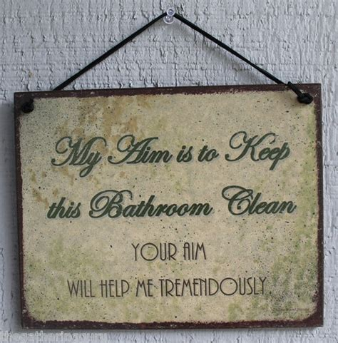 sayings for bathroom signs new my aim keep bathroom clean restroom house quote saying
