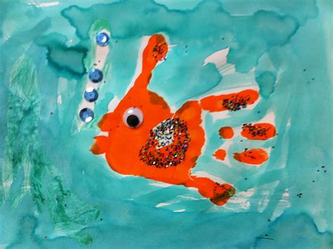 painting for 5 year olds fish glyph dust teaching
