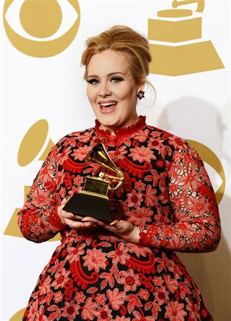 adele grammy photos 2013 adele wears valentino dress at grammy awards 2013 lainey