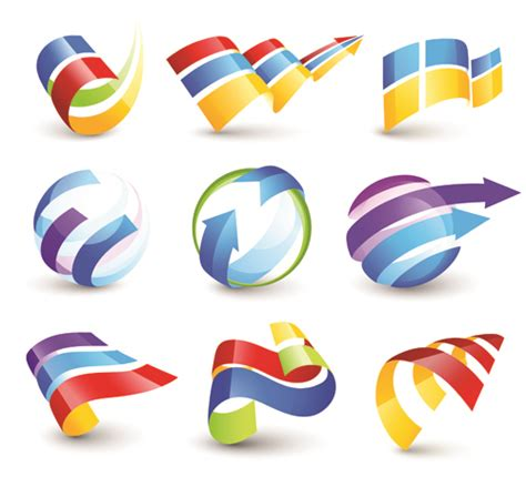 vector logo  abstract arrow design elements