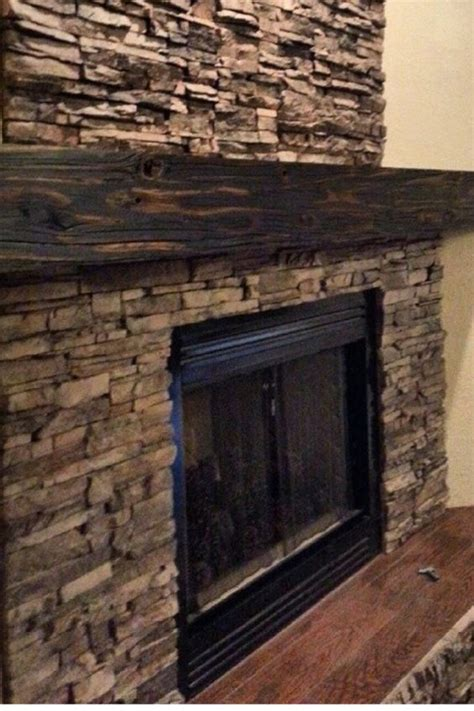 reclaimed wood and stone fireplace wall reclaimed wood ledge stone fireplace diy