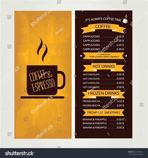 cafe menu template design vector illustration stock vector