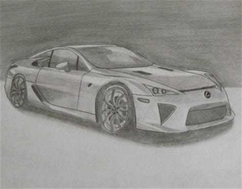 lexus lfa drawing timelapse of lexus lfa drawing on behance