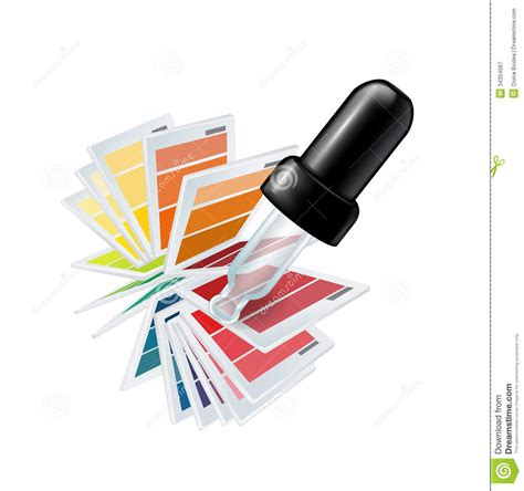 color eyedropper eyedropper and color chooser isolated royalty free stock