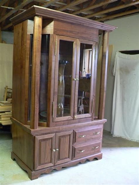 built in gun cabinet this handsome walnut gun cabinet was custom built right