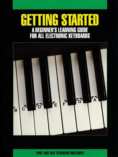 electronic keyboard tutorial books hal leonard getting started for all electronic keyboards