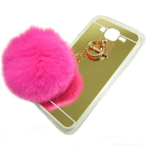 Softcase Kartun Rabbit Soft Cover Samsung Galaxy J5 2015 rabbit fur fluff pom pom for samsung galaxy j5 2016 j510 gold gadgets house