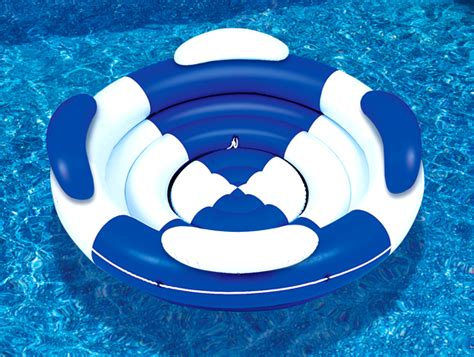 pool couch floats new swimline 9051 swimming pool inflatable sofa island