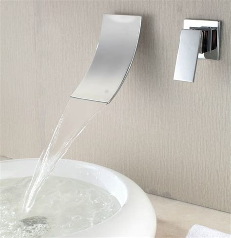 Whirlpool Tub Faucets Wall Mount by Bathtub Waterfall Faucet Rubbed Bronze Waterfall