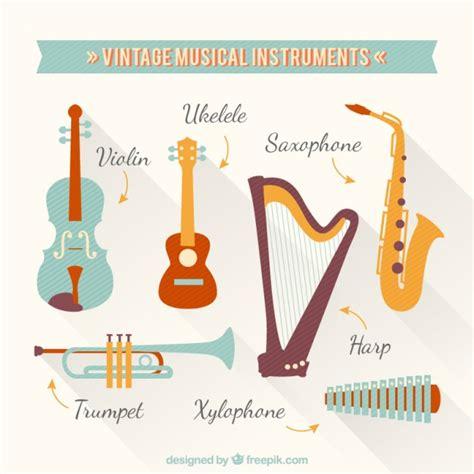 imagenes musicales retro instrumentos musicales vintage descargar vectores gratis