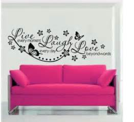 Transfer Stickers For Walls olivia wall decals quotes with butterflies flowers live