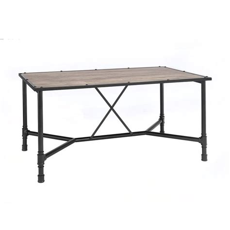 Black And Oak Dining Table Acme Furniture Caitlin Dining Table In Rustic Oak And Black 72035