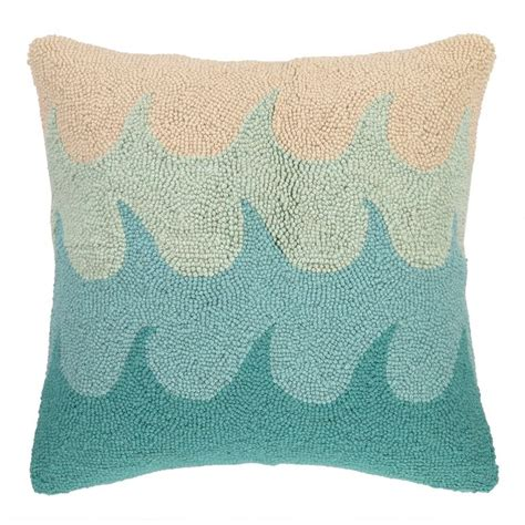 Wool Throw Pillows by Kate Nelligan Waves Hooked Wool Throw Pillow Everything