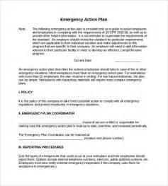 Emergency Response Policy Template by Sle Emergency Plan 10 Free Documents In Word Pdf