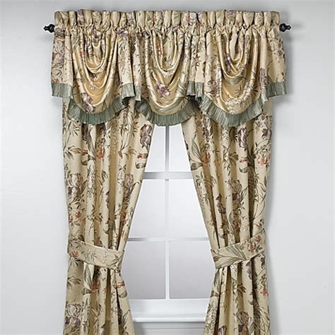 Croscill 174 Window Curtain Panel Pair And Valance Bed Bath